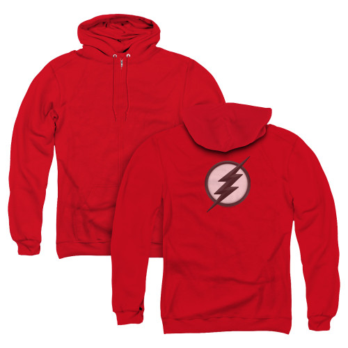 Image for The Flash TV Zip Up Back Print Hoodie - Jesse Quick Logo