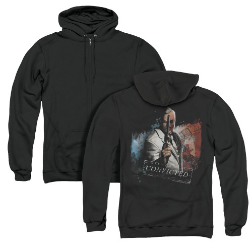 Image for Arkham City Zip Up Back Print Hoodie - Two Face