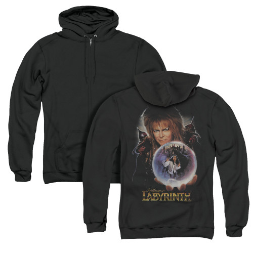 Image for Labyrinth Zip Up Back Print Hoodie - I Have A Gift