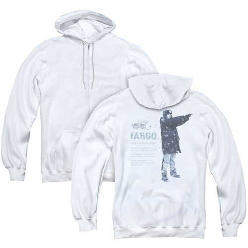 Image for Fargo Zip Up Back Print Hoodie - This Is A True Story