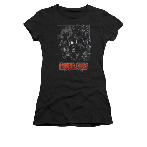 Image for Falling Skies Girls T-Shirt - Collage