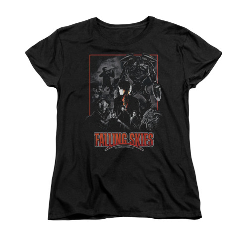 Image for Falling Skies Woman's T-Shirt - Collage