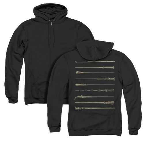 Image for Fantastic Beasts: the Crimes of Grindelwald Zip Up Back Print Hoodie - Wands