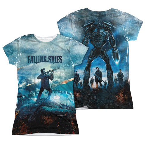 Image Closeup for Falling Skies Girls T-Shirt - Sublimated Battle