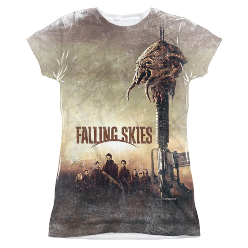 Image for Falling Skies Girls T-Shirt - Sublimated Skitter Head