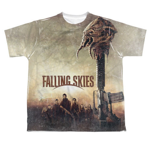 Image for Falling Skies Youth T-Shirt - Sublimated Skitter Head