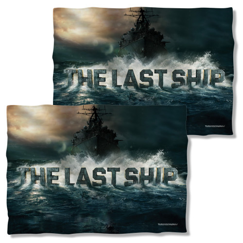 Image Closeup for The Last Ship Pillow Case - Out to Sea