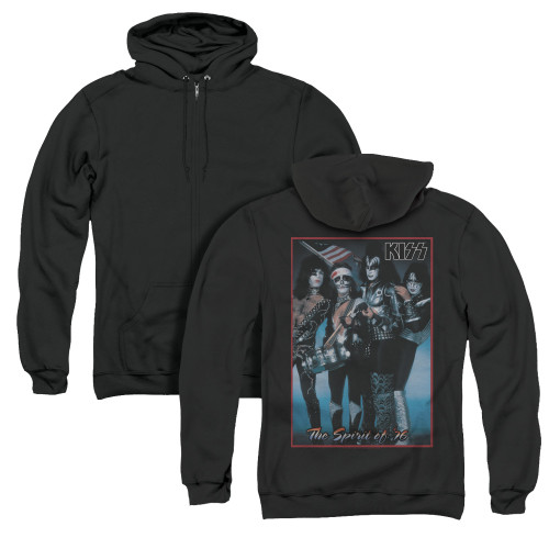 Image for Kiss Zip Up Back Print Hoodie - Spirit of '76