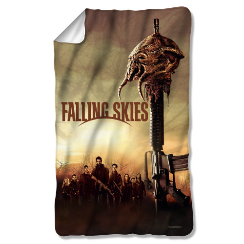 Image for Falling Skies Fleece Blanket - Skitter Head
