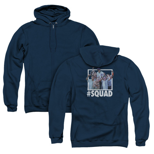 Image for The Sandlot Zip Up Back Print Hoodie - #Squad