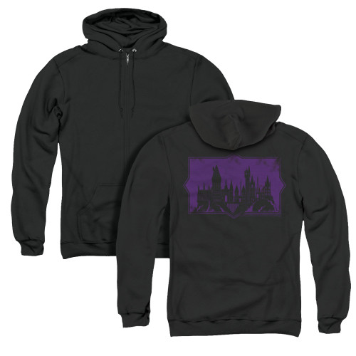 Image for Fantastic Beasts: the Crimes of Grindelwald Zip Up Back Print Hoodie - Howarts Silhouette