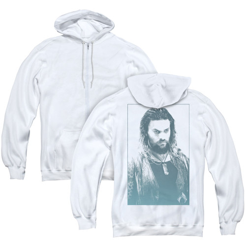 Image for Aquaman Movie Zip Up Back Print Hoodie - Salt of the Sea