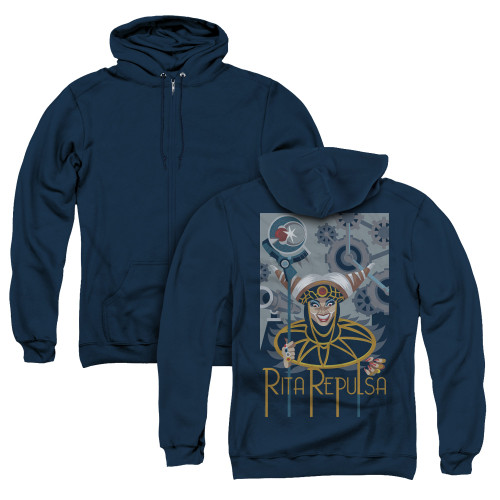 Image for Power Rangers Zip Up Back Print Hoodie - Rita Deco