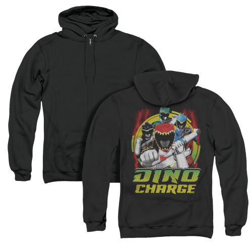 Image for Power Rangers Dino Charge Zip Up Back Print Hoodie - Dino Lightning