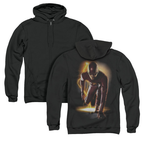 Image for Flash TV Show Zip Up Back Print Hoodie - Ready