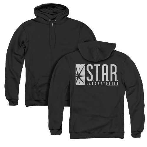 Image for Flash TV Show Zip Up Back Print Hoodie - S.T.A.R. Laboratories