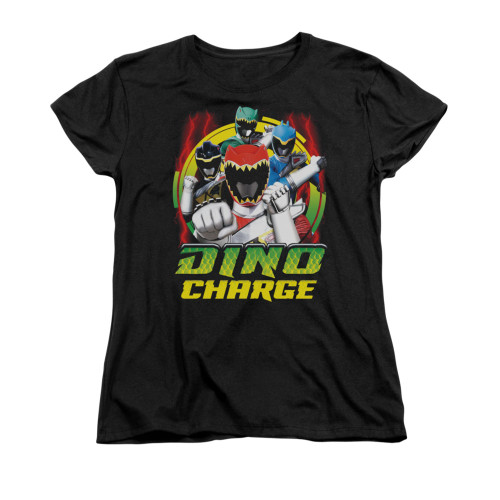 Image for Power Rangers Dino Charge Woman's T-Shirt - Dino Lightning