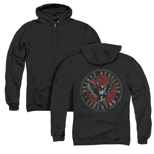 Image for Velvet Revolver Zip Up Back Print Hoodie - Circle Logo