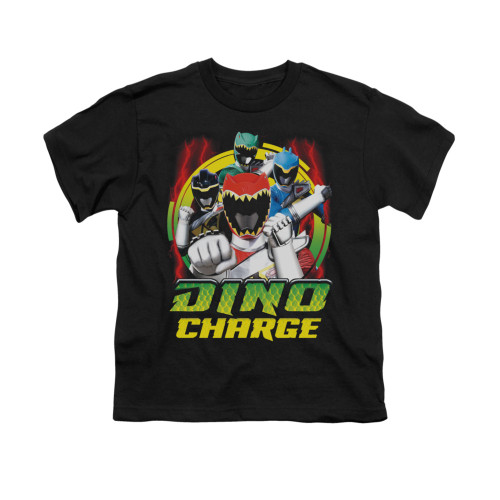 Image for Power Rangers Dino Charge Youth T-Shirt - Dino Lightning