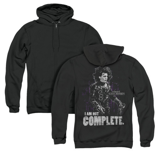 Image for Edward Scissorhands Zip Up Back Print Hoodie - Not Complete