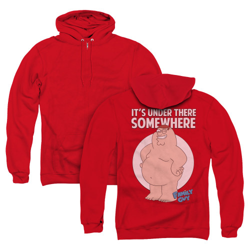 Image for Family Guy Zip Up Back Print Hoodie - Somewhere