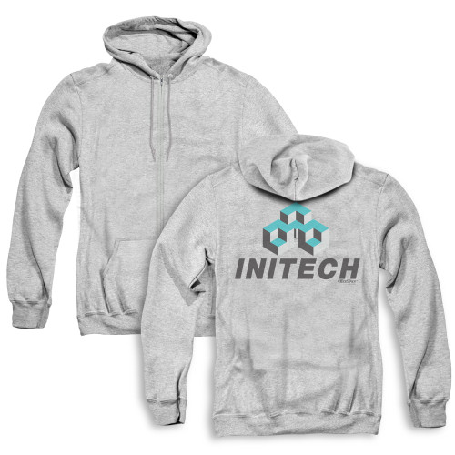 Image for Office Space Zip Up Back Print Hoodie - Initech Logo