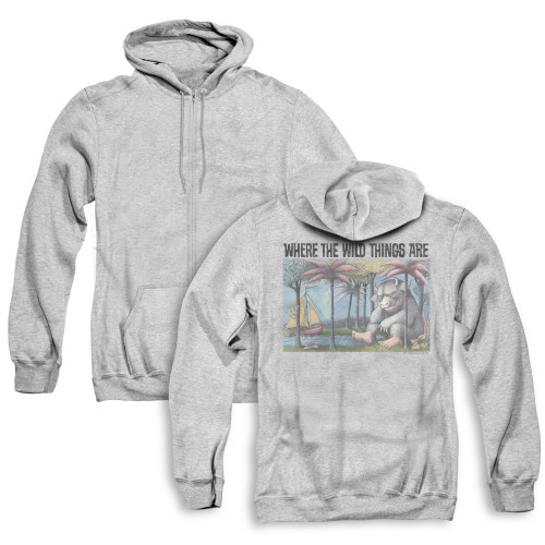 Image for Where the Wild Things Are Zip Up Back Print Hoodie - Cover Art