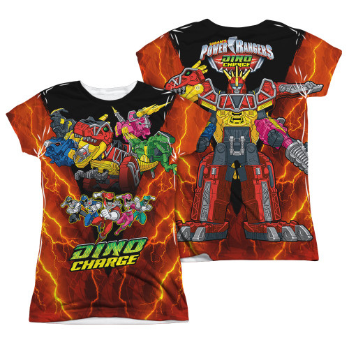 Image Closeup for Power Rangers Girls Sublimated T-Shirt - Zord Power