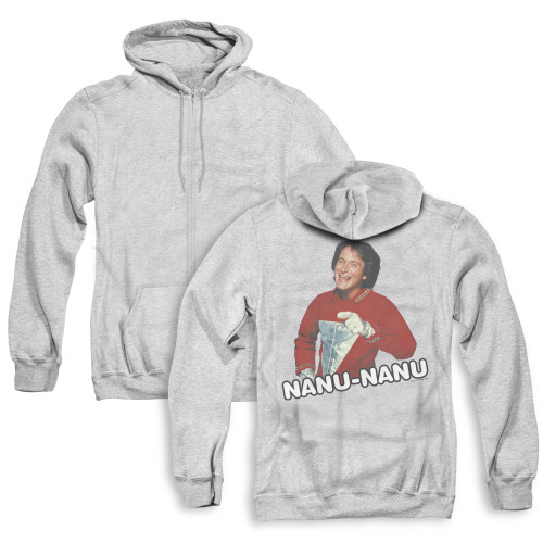 Image for Mork & Mindy Zip Up Back Print Hoodie - Catch Phrase