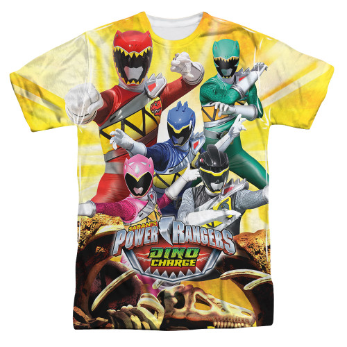 Image for Power Rangers Sublimated T-Shirt - Charged for Battle 100% Polyester