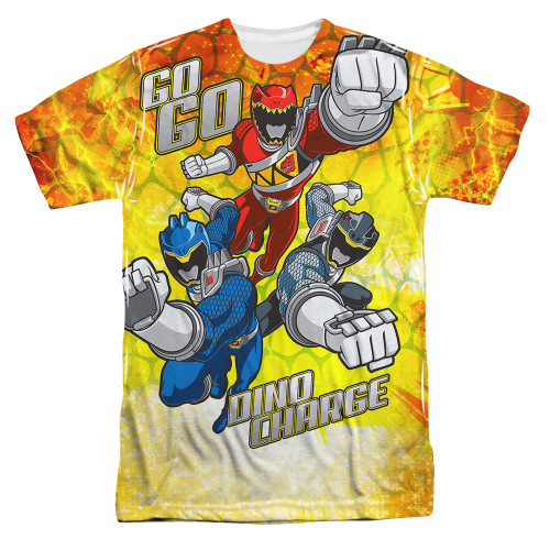 Image for Power Rangers Sublimated T-Shirt - Go Go Dino Charge 100% Polyester