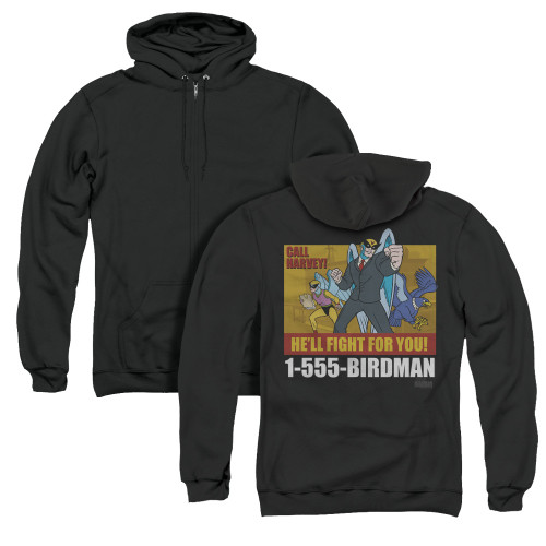Image for Harvey Birdman Attorney at Law Zip Up Back Print Hoodie - Law Ad