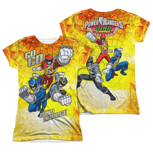 Image Closeup for Power Rangers Girls Sublimated T-Shirt - Go Go Dino Charge