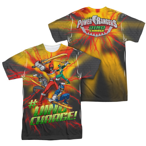 Image Closeup for Power Rangers Sublimated T-Shirt - Hashtag