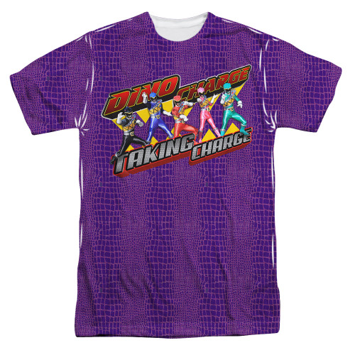 Image for Power Rangers Sublimated T-Shirt - Taking Charge 100% Polyester