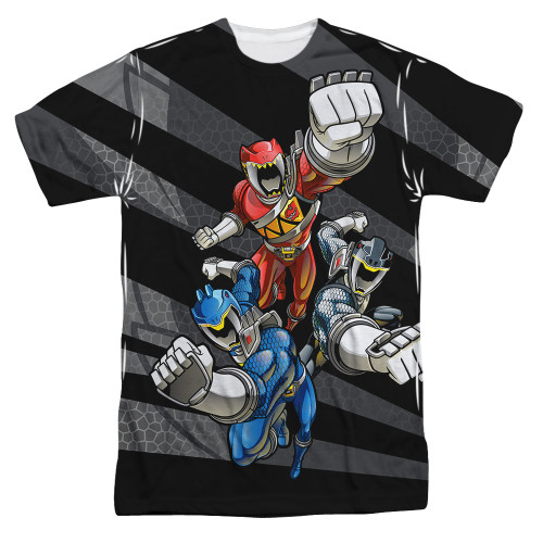 Image for Power Rangers Sublimated T-Shirt - Let's Bolt 100% Polyester