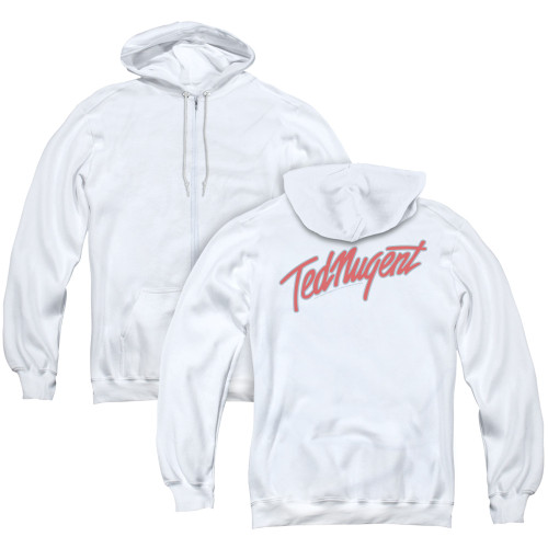 Image for Ted Nugent Zip Up Back Print Hoodie - Clean Logo