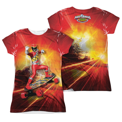 Image Closeup for Power Rangers Girls Sublimated T-Shirt - Skater