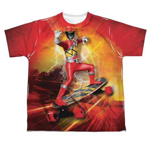 Image for Power Rangers Youth Sublimated T-Shirt - Skater 100% Polyester