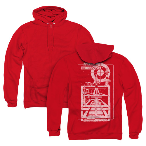 Image for Atari Zip Up Back Print Hoodie - Missile Command Lift Off