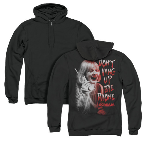 Image for Scream Zip Up Back Print Hoodie - Don't Hang Up