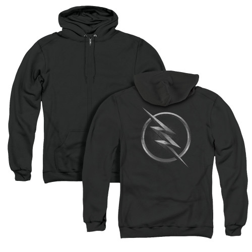 Image for The Flash TV Zip Up Back Print Hoodie - Zoom Logo