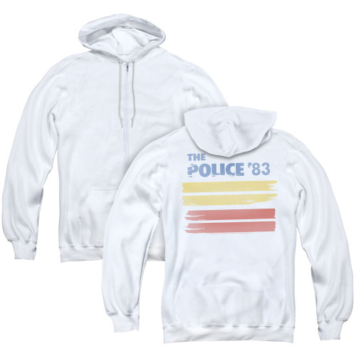 Image for The Police Zip Up Back Print Hoodie - '83