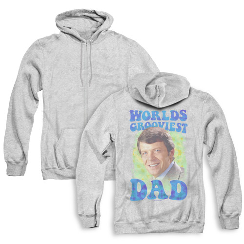 Image for The Brady Bunch Zip Up Back Print Hoodie - World's Grooviest