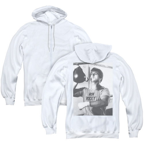 Image for Rocky Zip Up Back Print Hoodie - Square