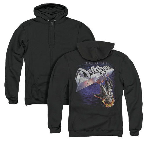 Image for Dokken Zip Up Back Print Hoodie - Tooth and Nail