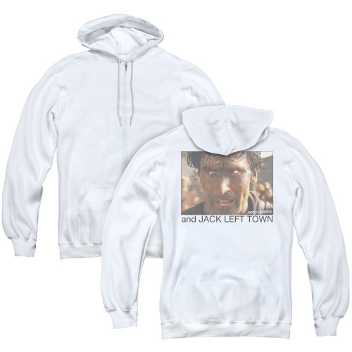 Image for Army of Darkness Zip Up Back Print Hoodie - Jack Left Town