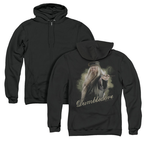 Image for Harry Potter Zip Up Back Print Hoodie - Dumbledore Wand