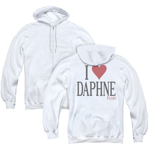 Image for Frasier Zip Up Back Print Hoodie - I Heart Daphne
