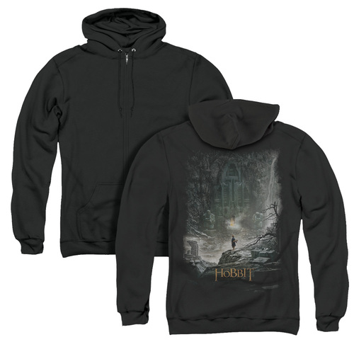 Image for The Hobbit Zip Up Back Print Hoodie - At Smaug's Door